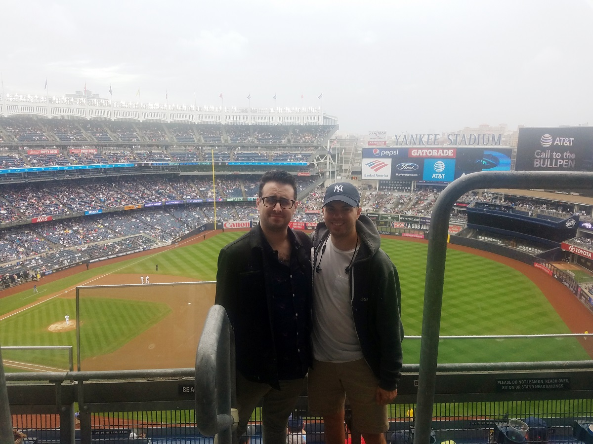 At Yankee Stadium in 2018