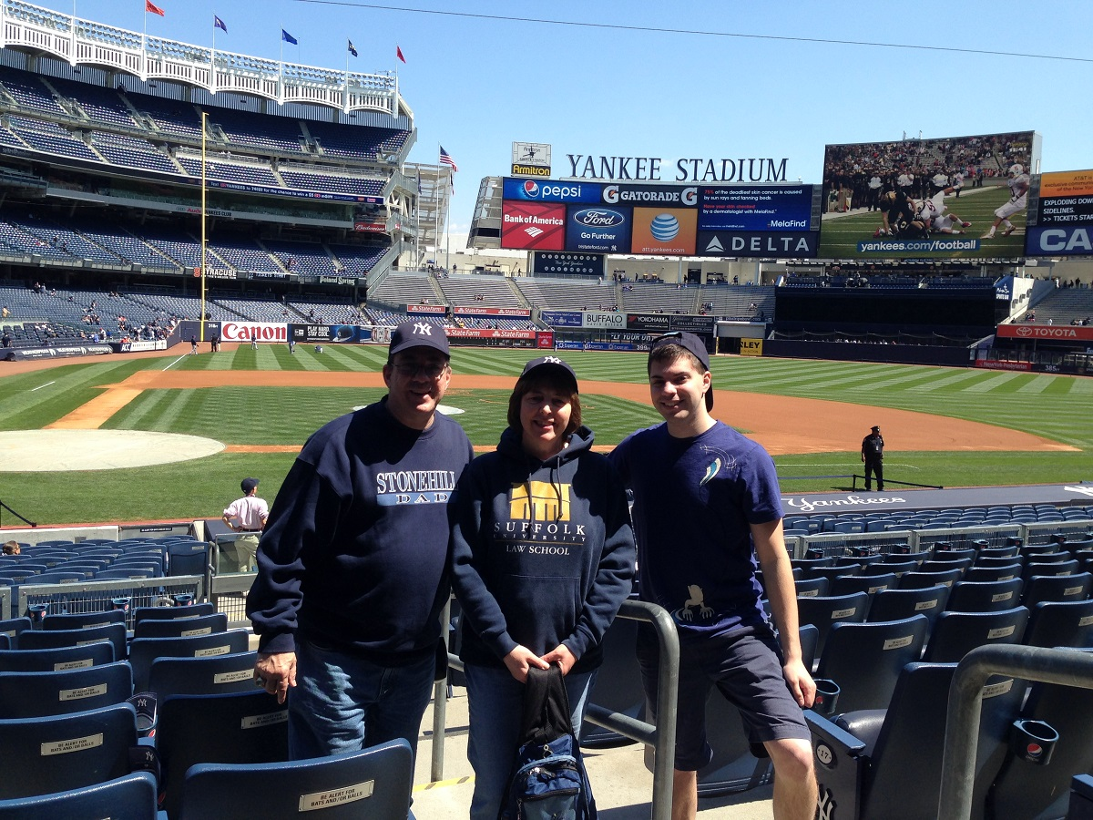 At Yankee Stadium with my Parents