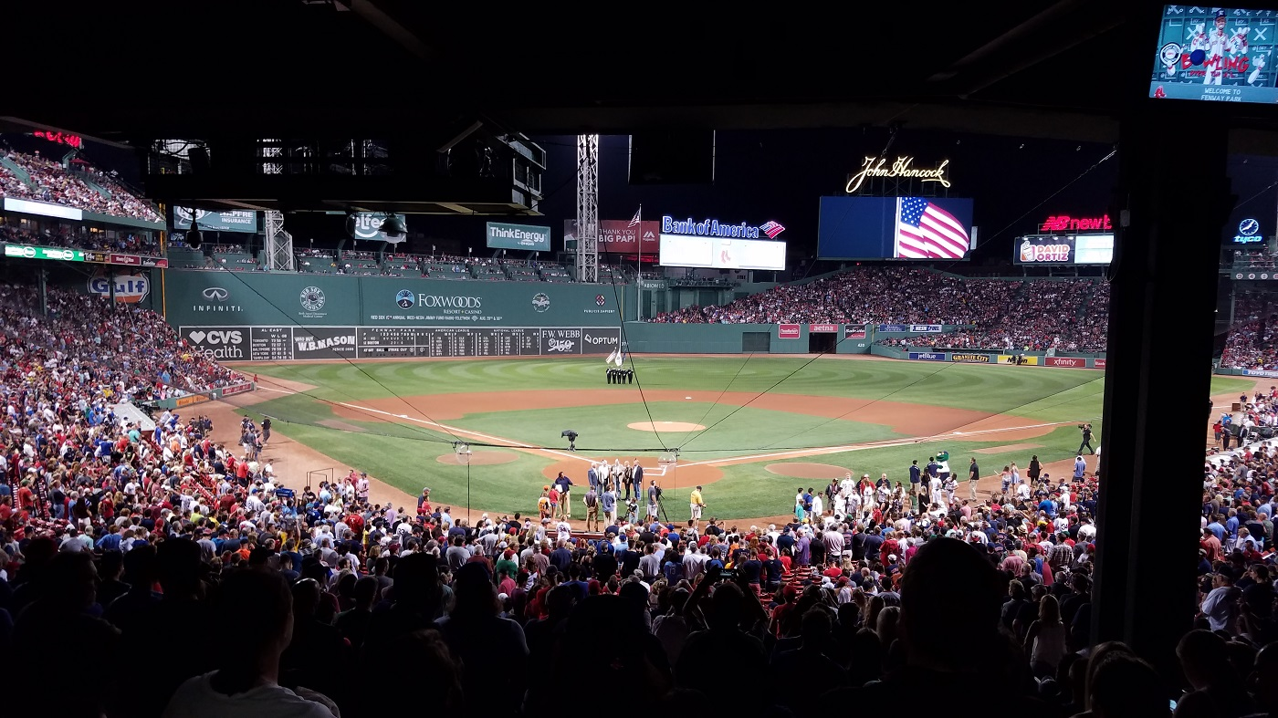 Behind Home Plate at Fenway Park