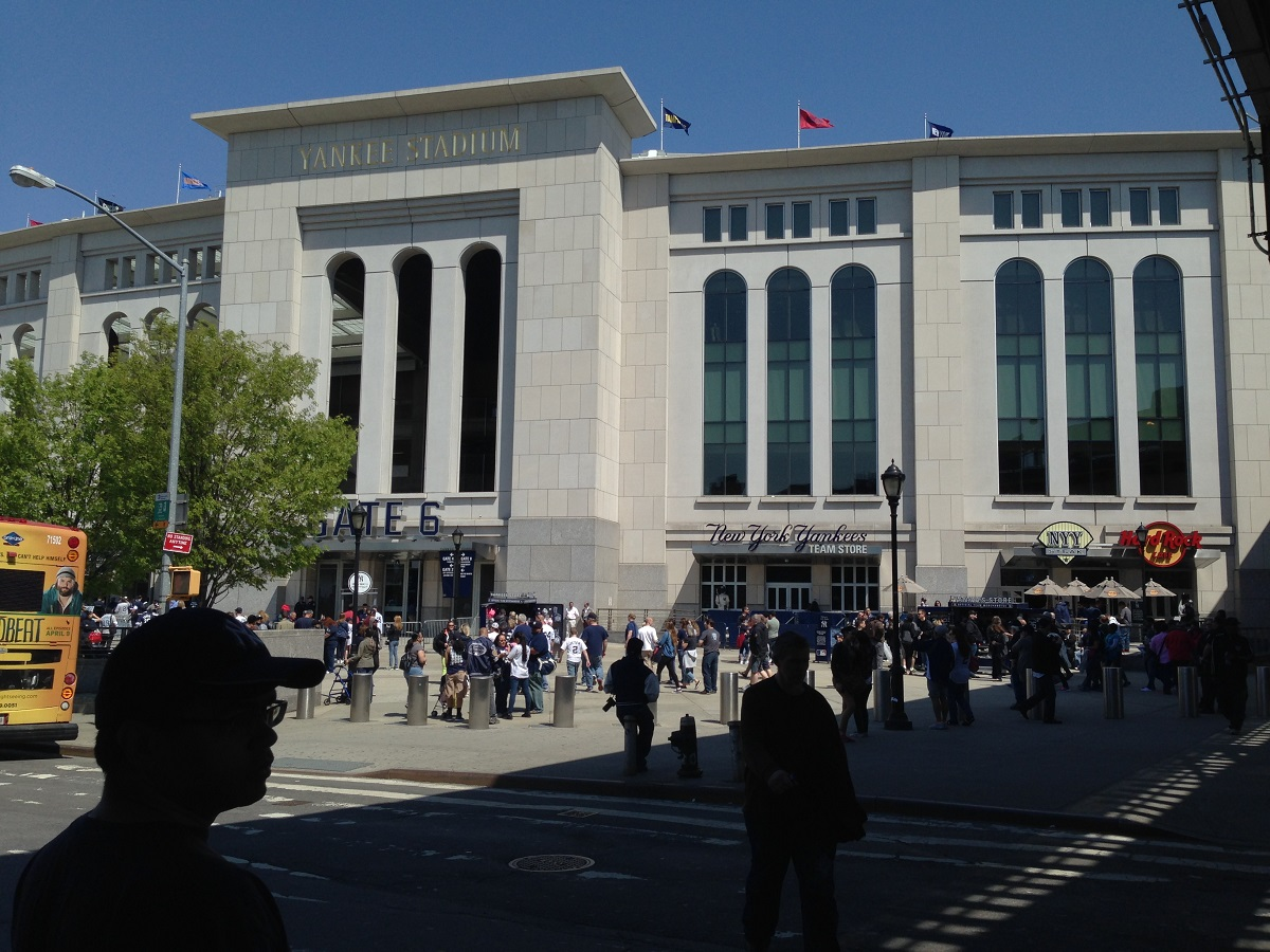 Outside Yankee Stadium