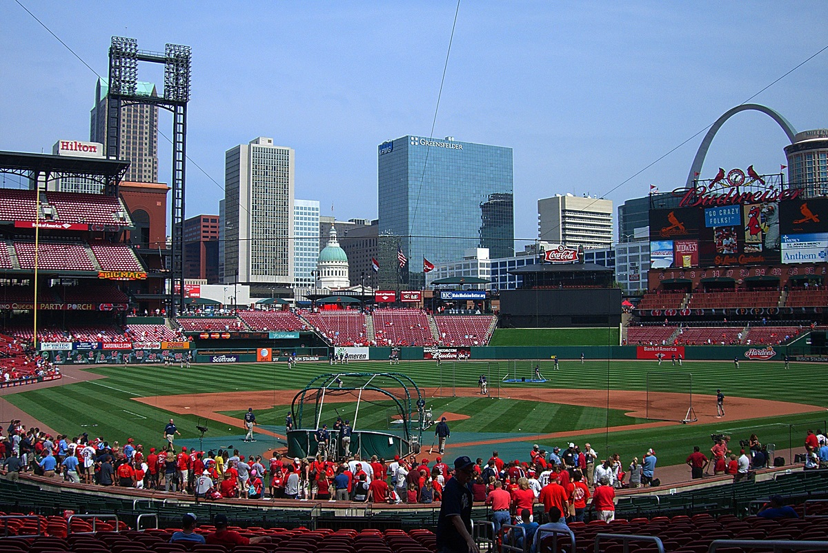 Busch Stadium During Batting Practice