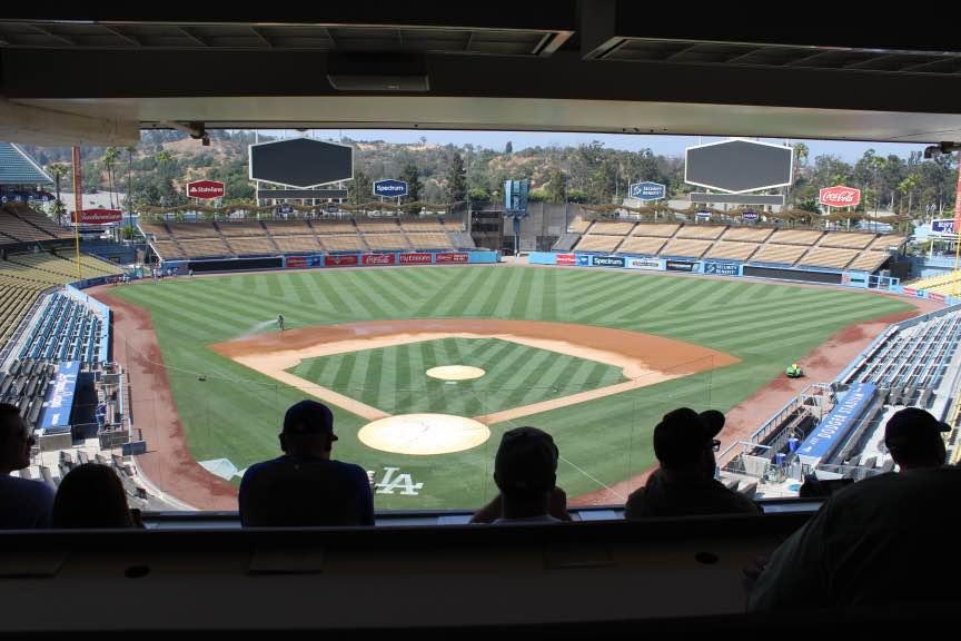 Dodger Stadium Press Box