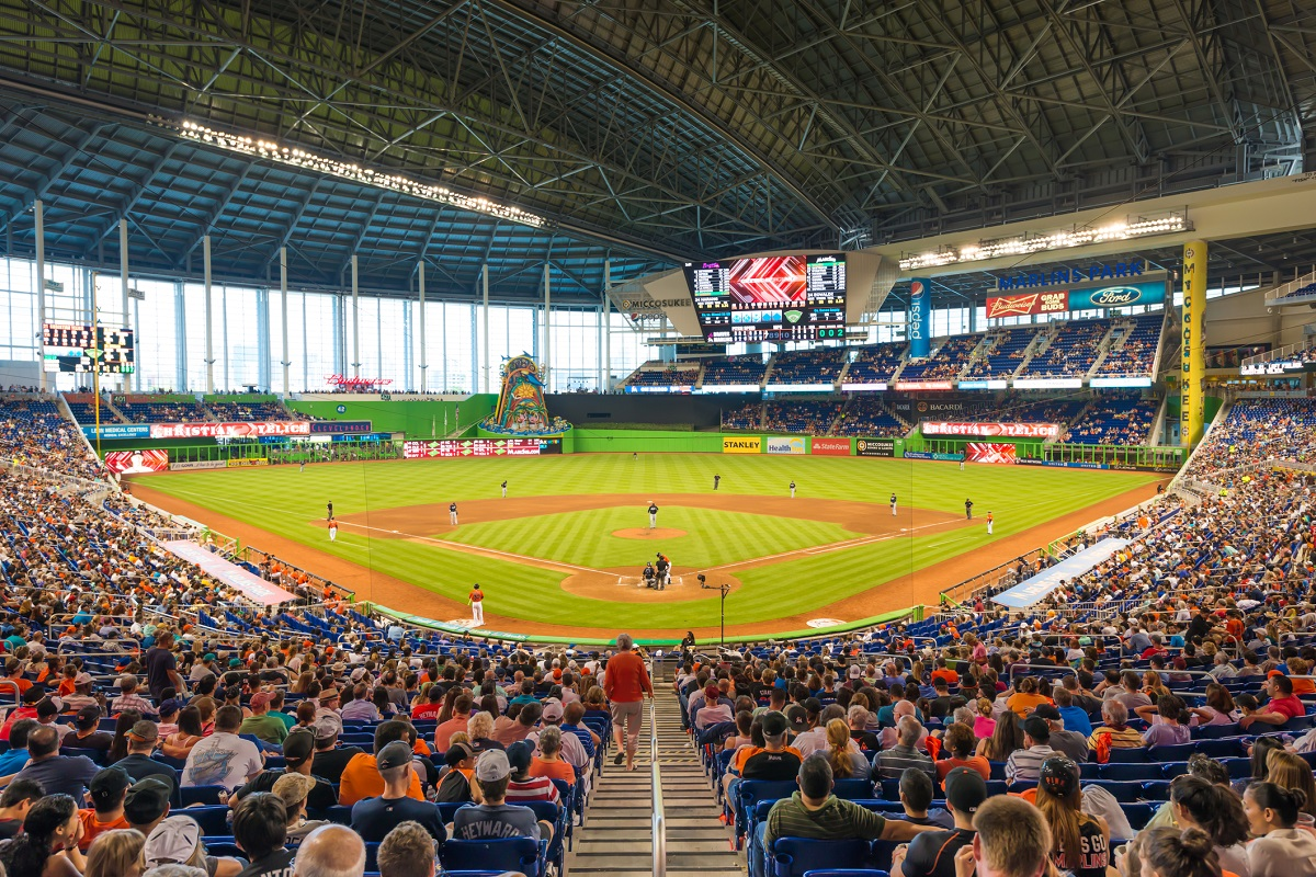 Marlins Park Behind the Home Plate