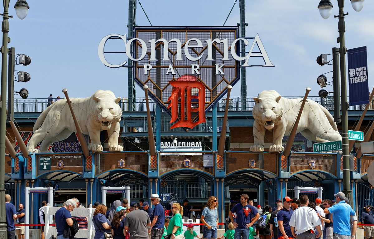 Outside Comerica Park Detroit Tigers