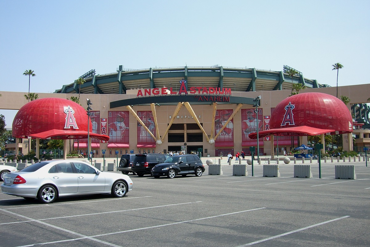 Outside of Angels Stadium