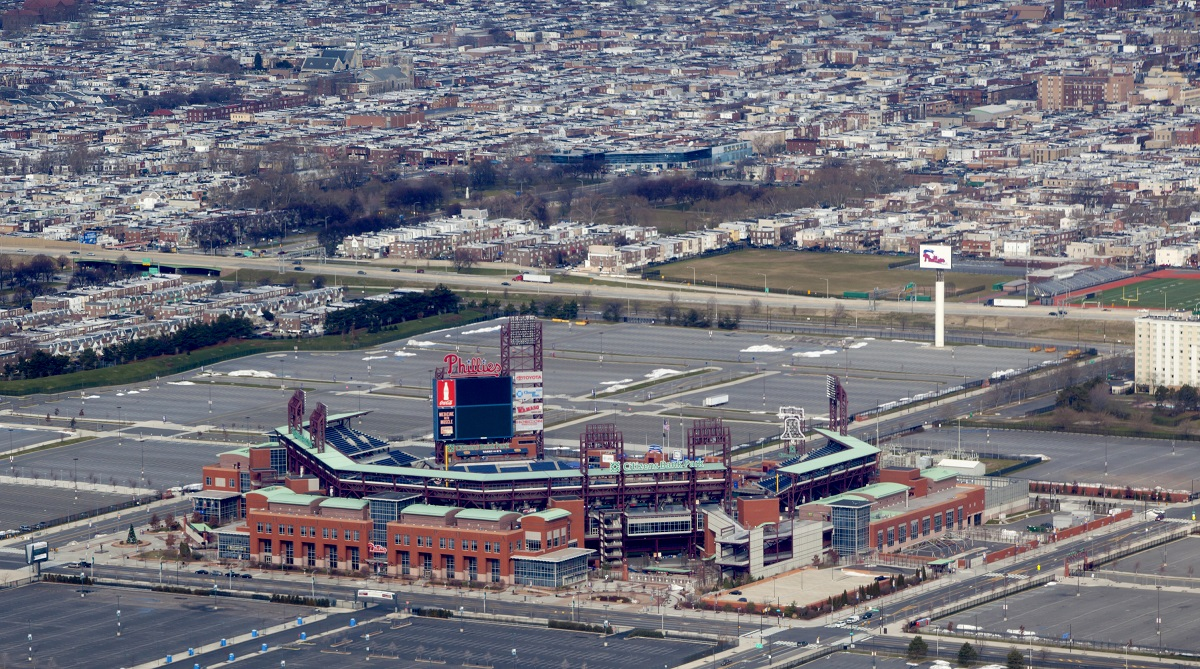 Overshot view of Citizens Bank Park