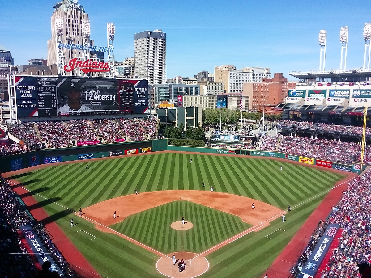 Progressive Field Behind Home Plate in the Upper Deck