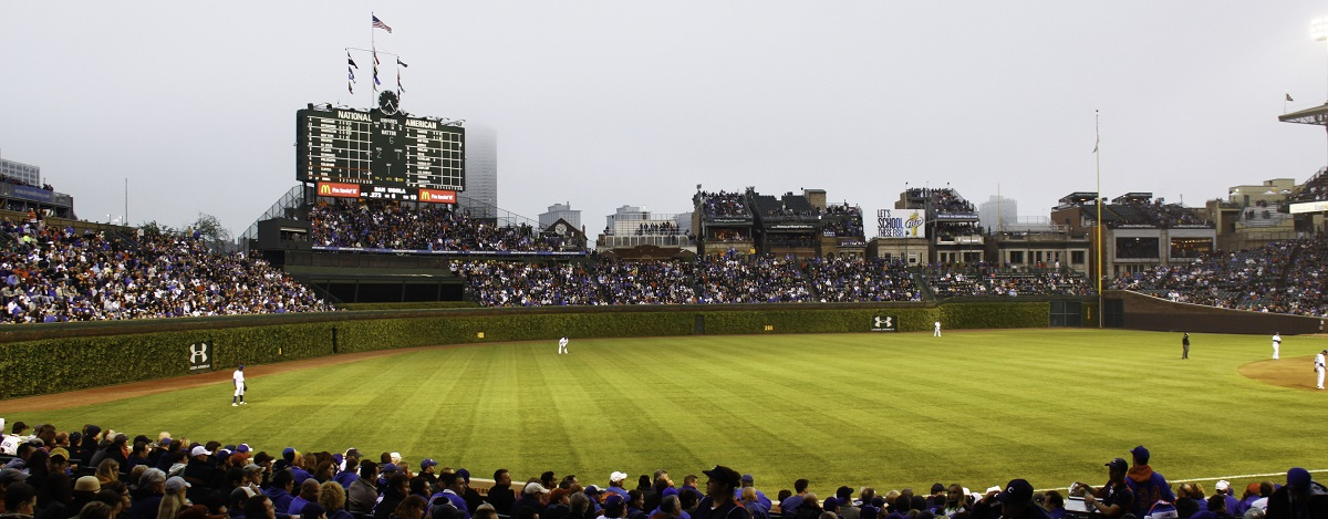Wrigley Field Looking at the Outfield