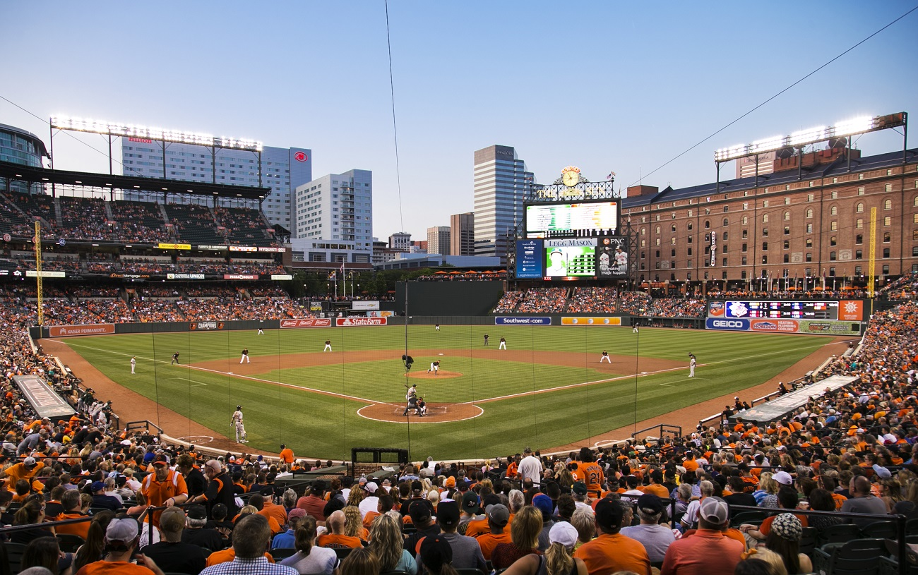 Camden Yards Behind Home Plate