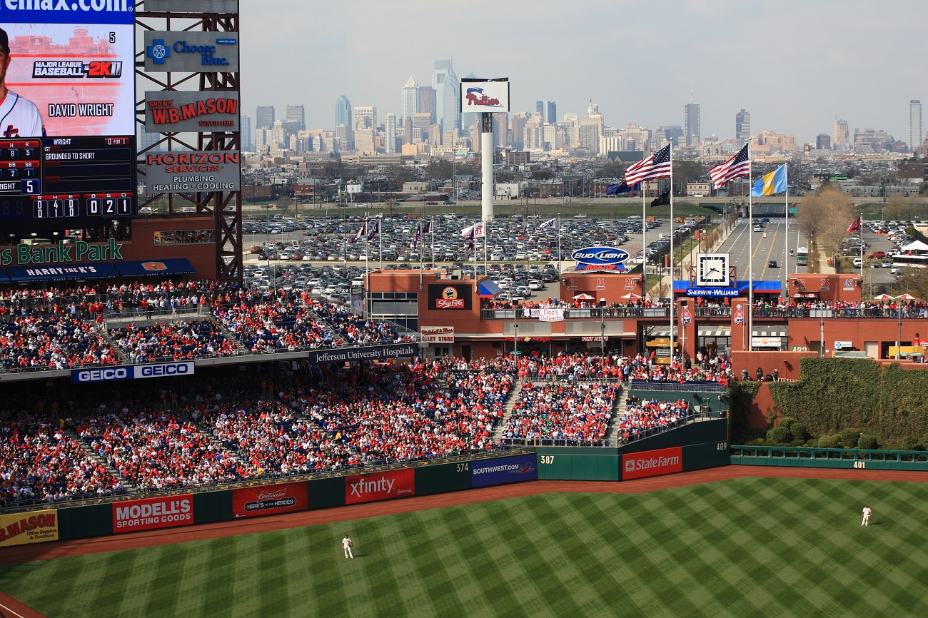 Downtown Philly Skyline at Citizens Bank Park