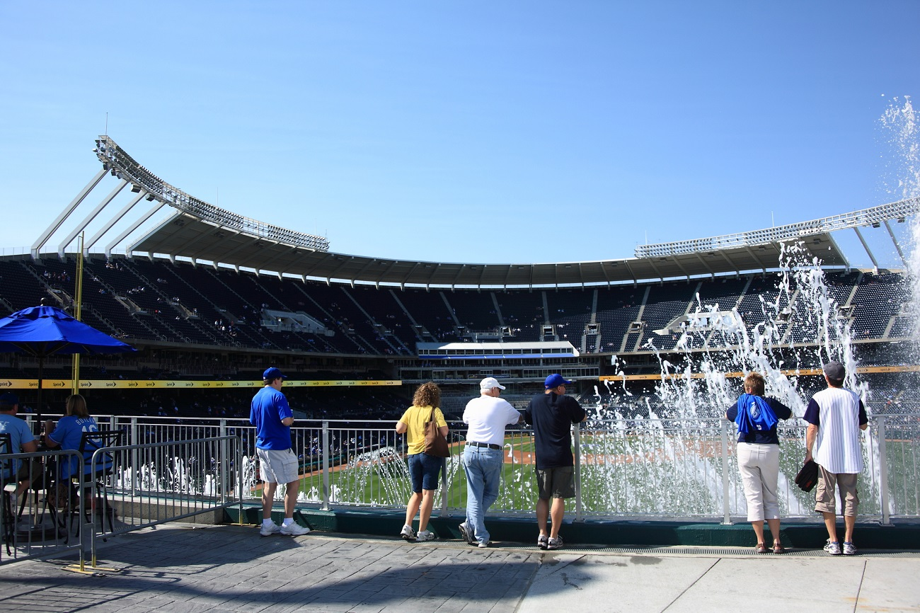 Kauffman Stadium Looking out from the Outfield Water