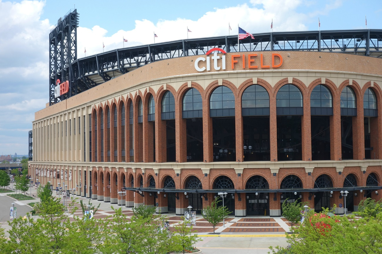 Outside Citi Field of the New York Mets