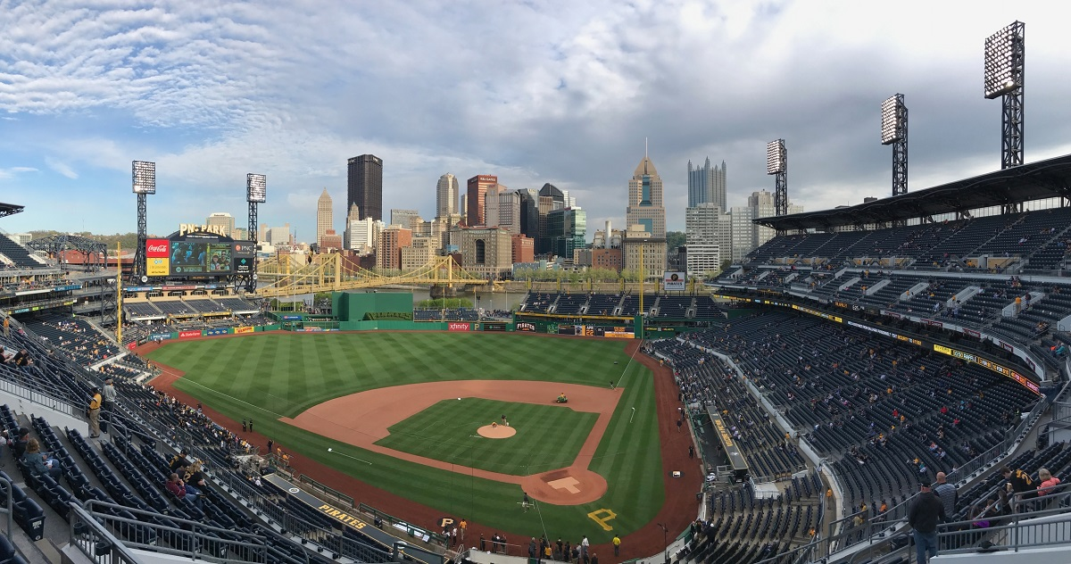 PNC Park Upper Deck Aerial View