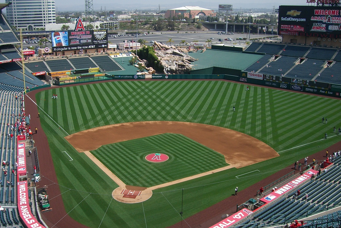 Angels Stadium Behind Home Plate