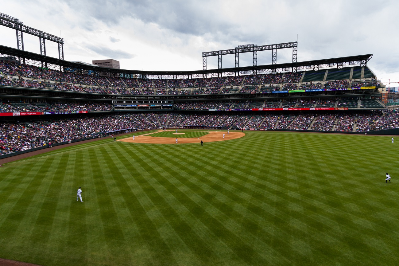 Baseball Game at Coors Field Bleachers View