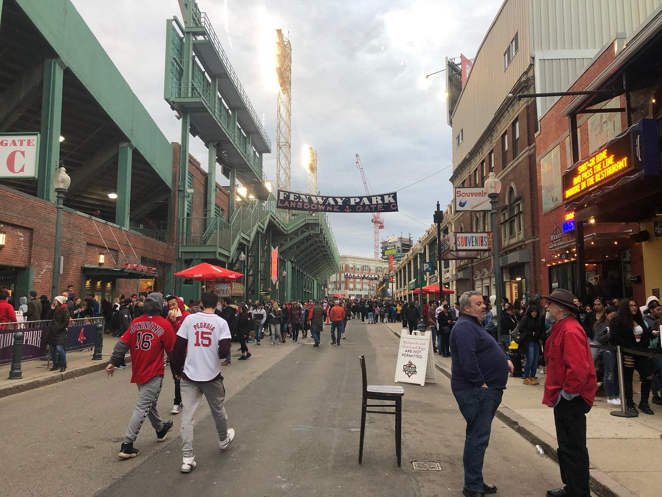 Behind Fenway Park on Landsdowne Street