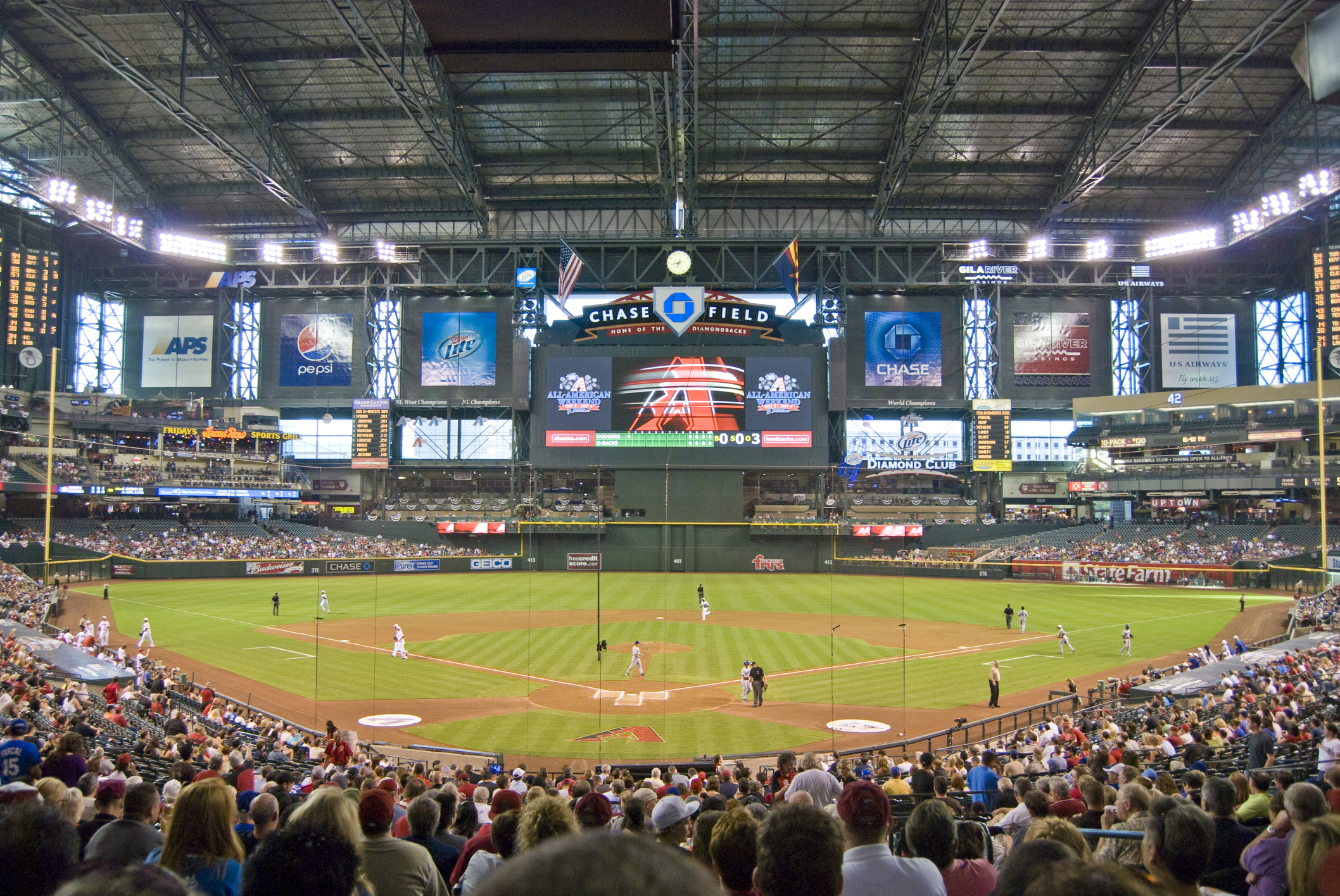 Behind Home Plate at Chase Field