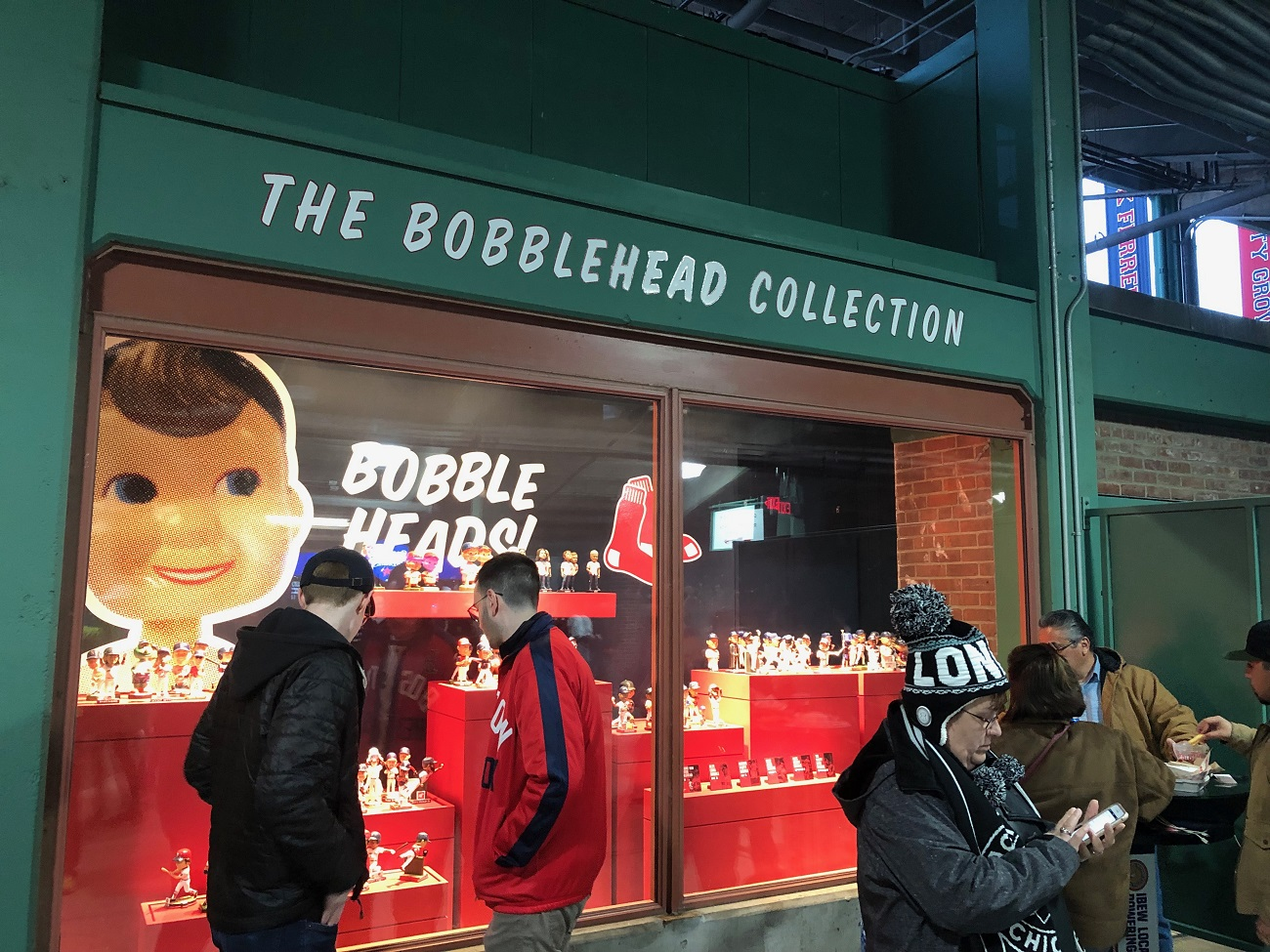 Bobble Head Section at Fenway Park