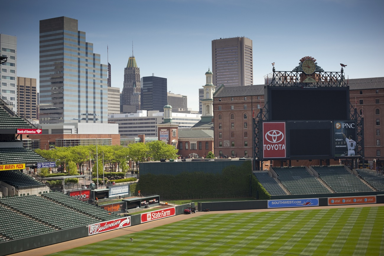 Camden Yards Baltimore Skyline