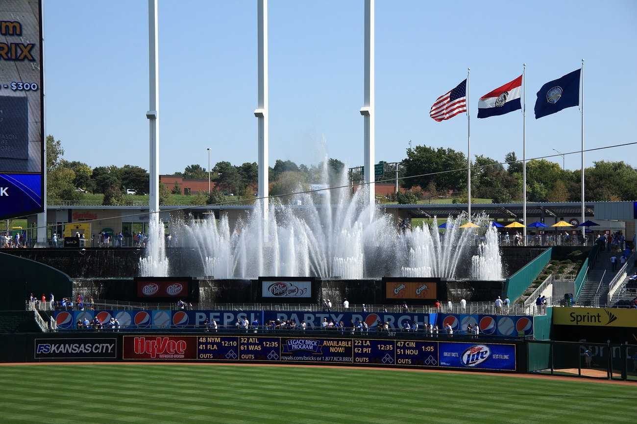 Kauffman Stadium Waterfalls