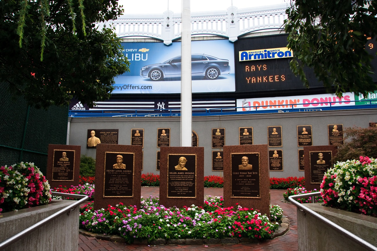 Monument Park Old Yankee Stadium