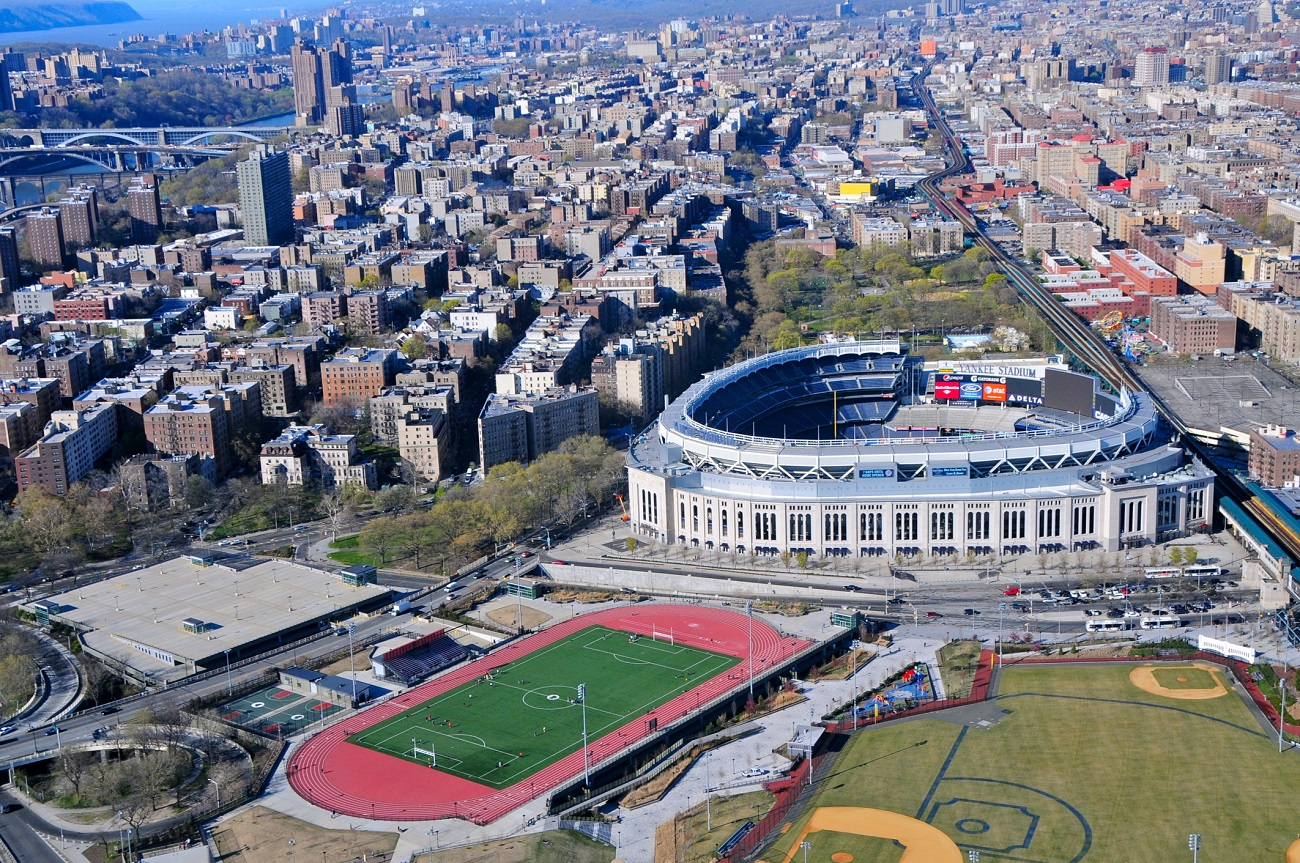 New Yankee Stadium in the Bronx Aerial View