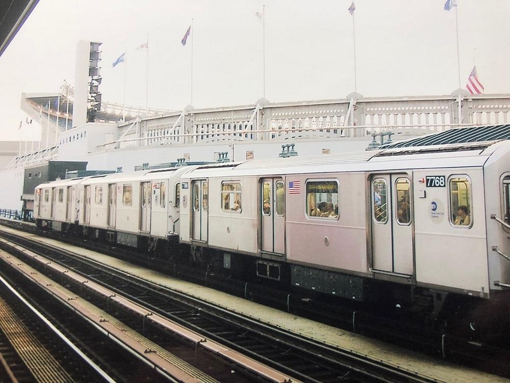 Number 4 Train Leaving Old Yankee Stadium