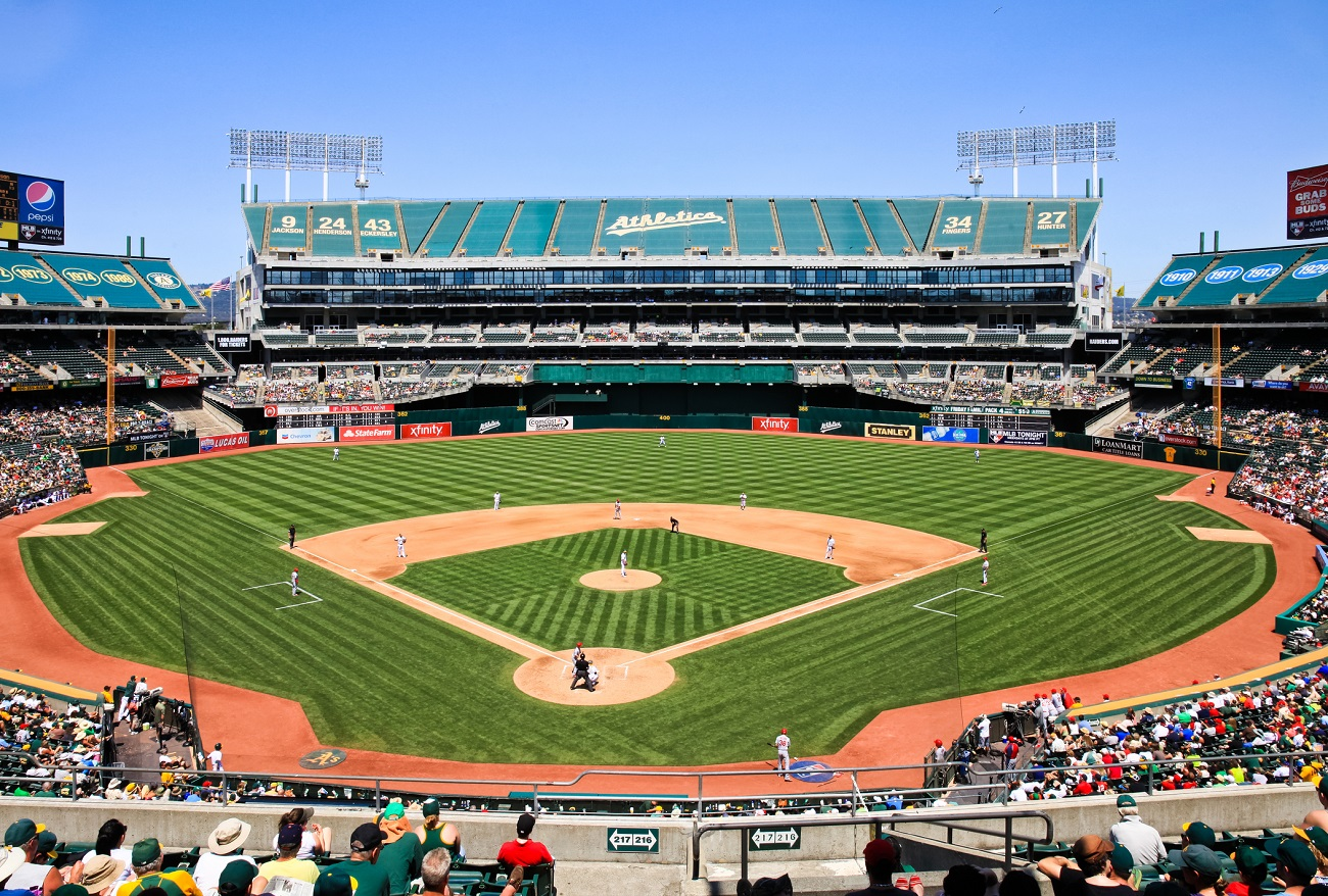 Oakland Coliseum Stadium Behind Home Plate