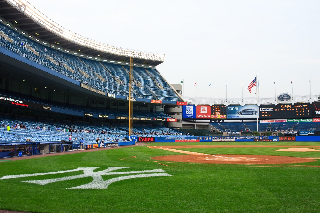 Old Yankee Stadium Empty Behind Home Plate