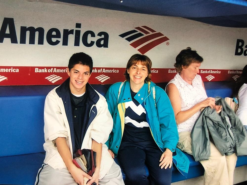 Old Yankee Stadium with my Mom