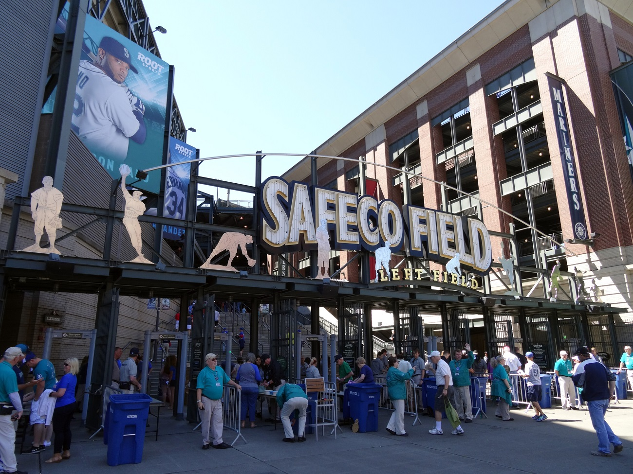 People Entering Safeco Field