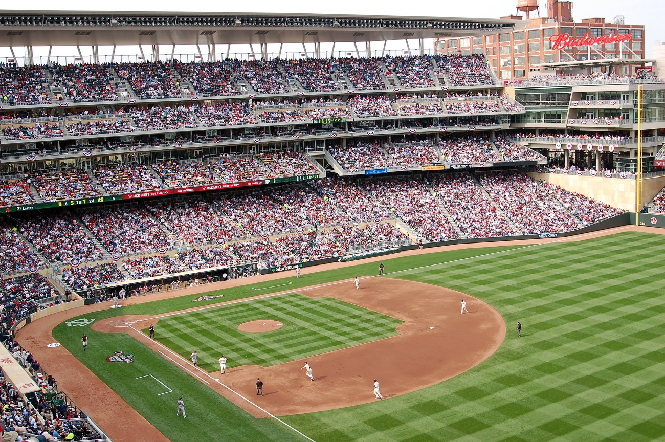 Target Field Packed Crowd