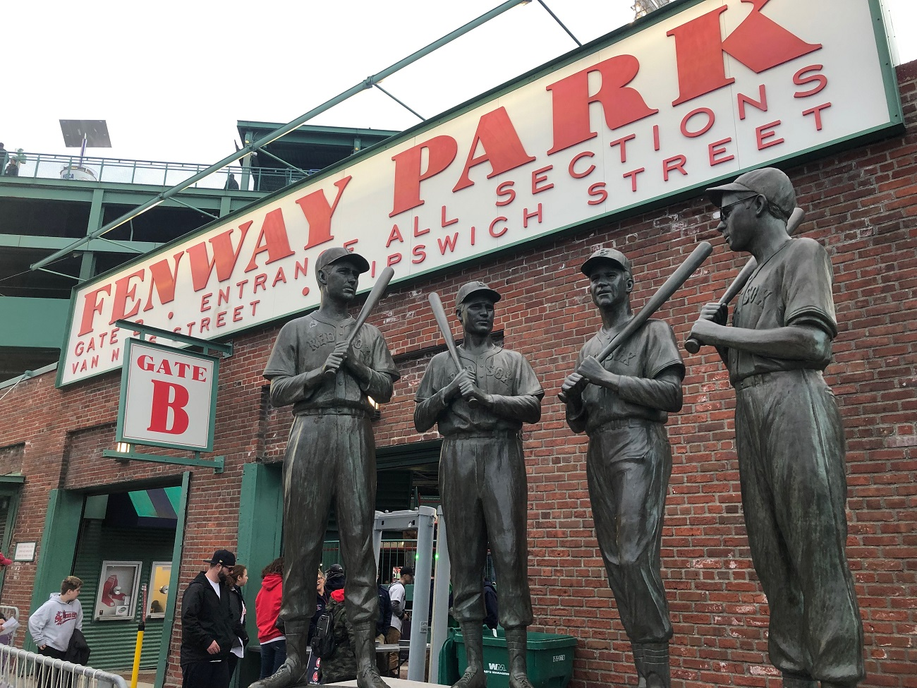 Teammate Statues outside of Fenway Park