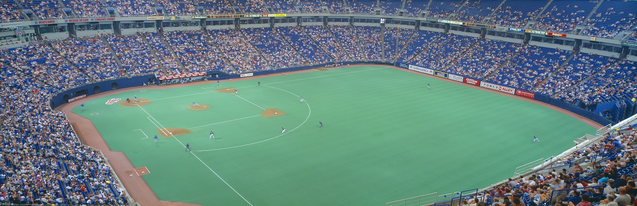 The Metrodome Inside for Baseball