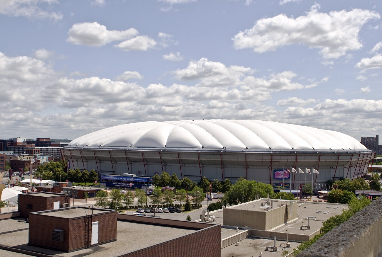 The Metrodome from the Outside