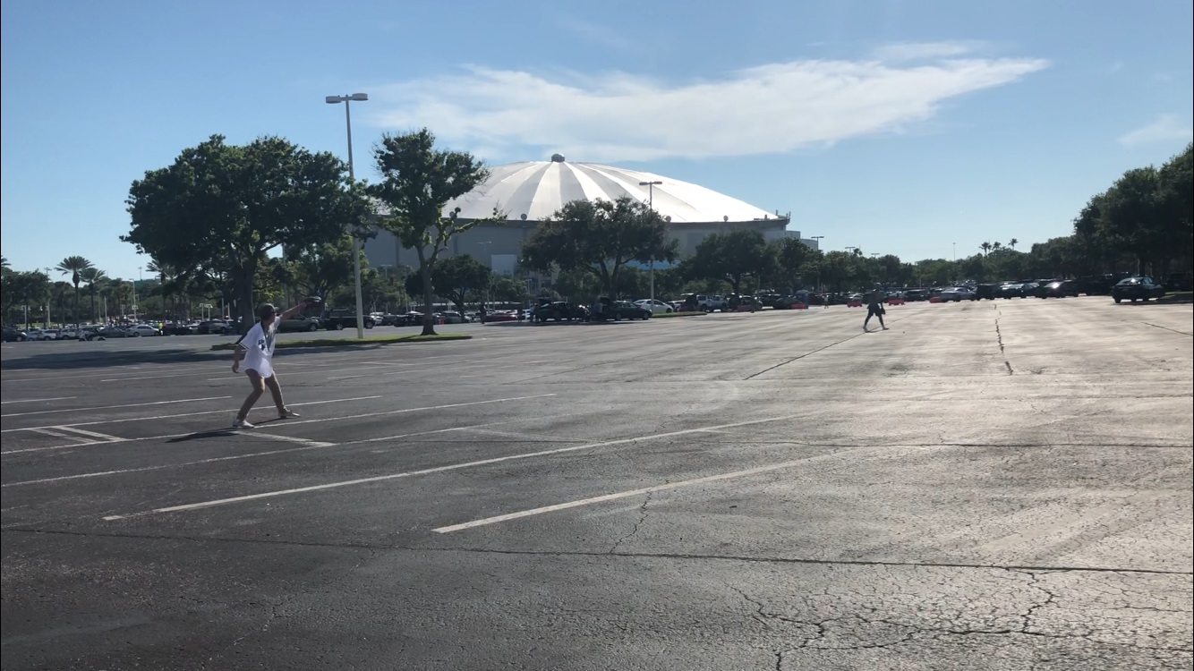 Fans Playing Catch at Tropicana Field