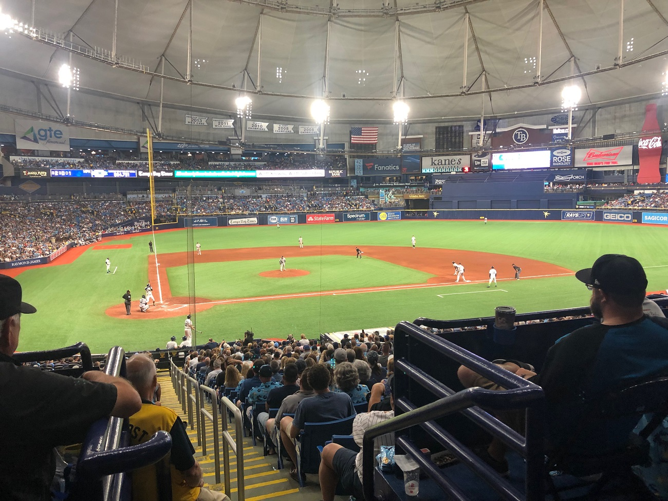 Game at Tampa Bay Rays Stadium