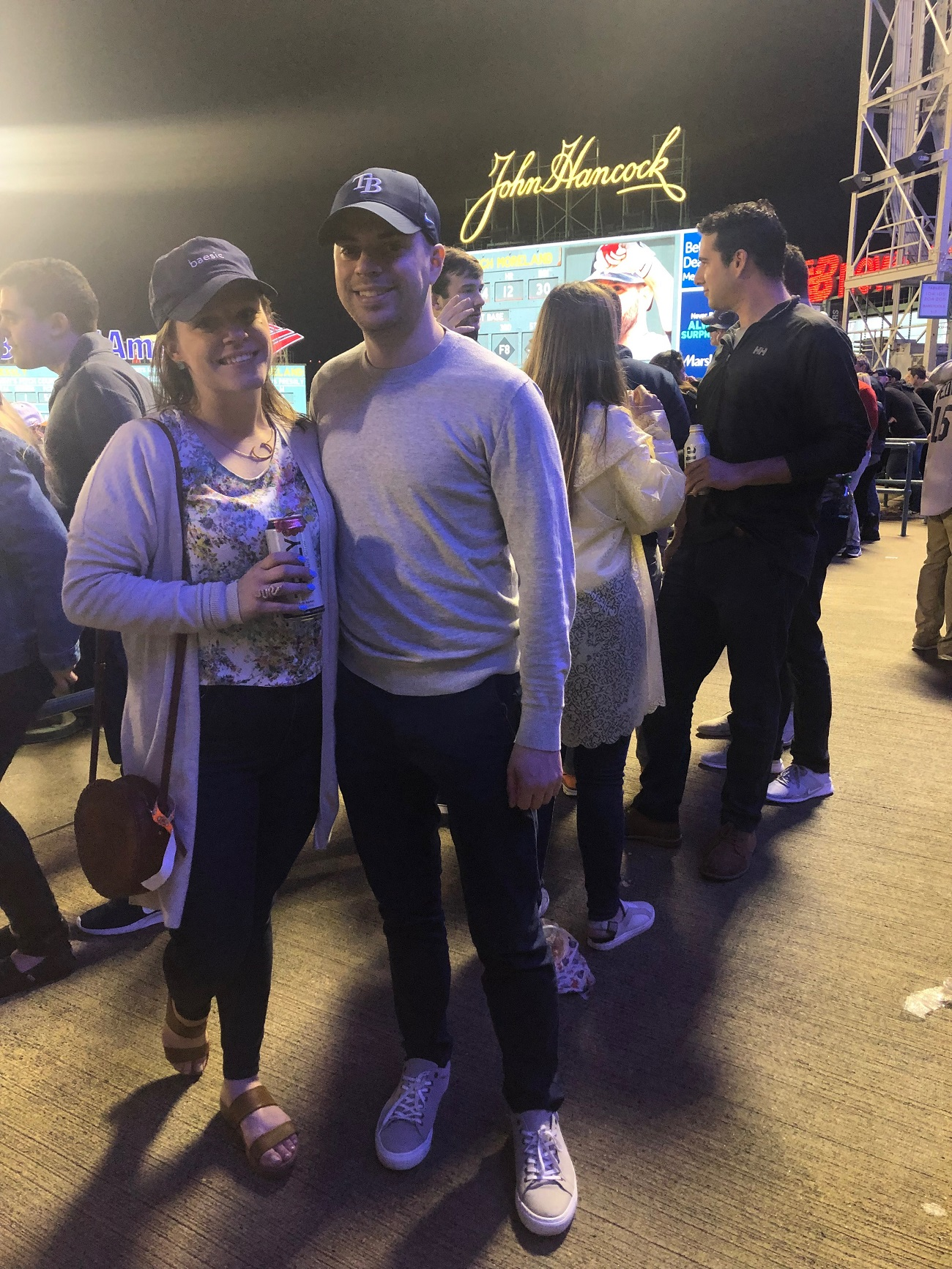 Greg and Caitlin at Fenway Park 2019