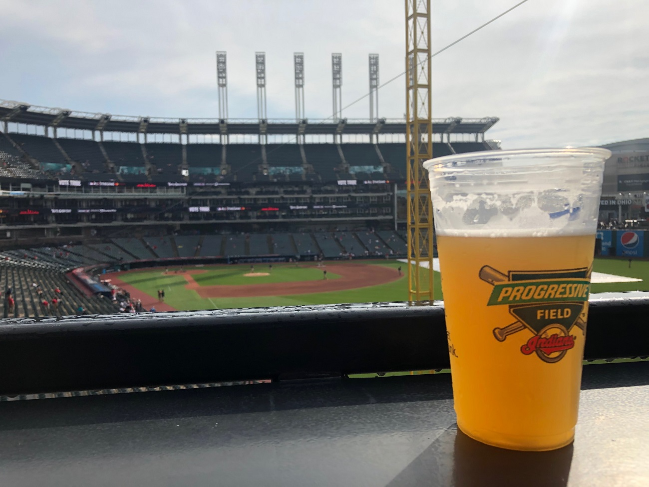 Beer at Progressive Field