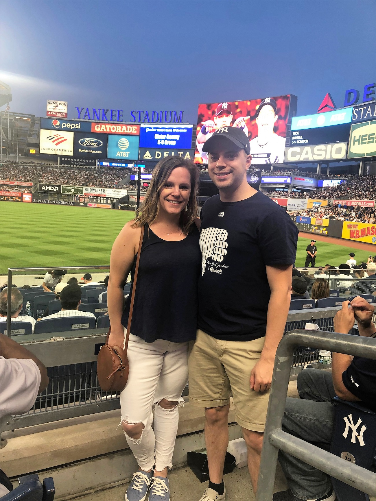 Greg and Caitlin at Yankee Stadium 2019 (2)