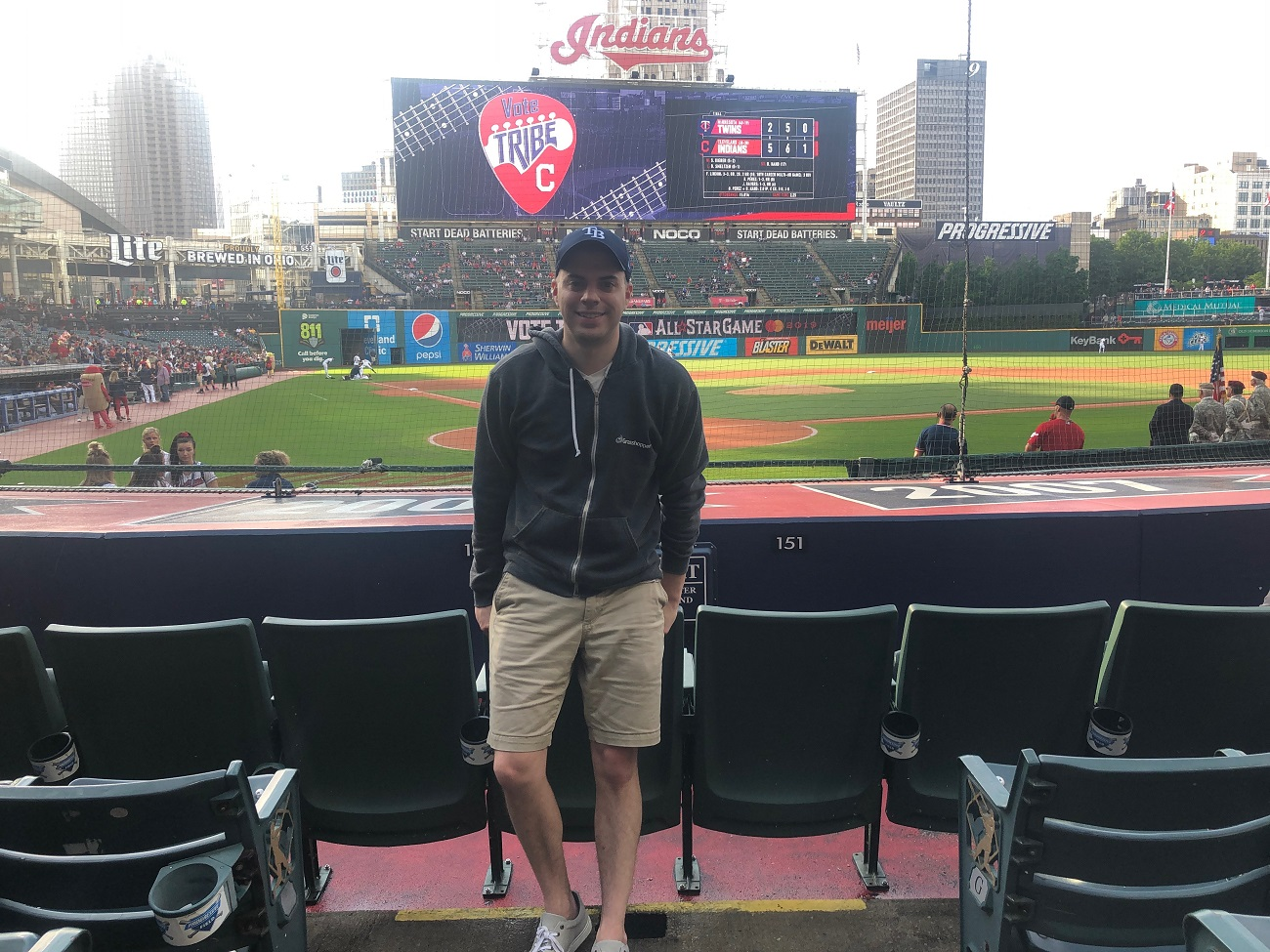 Greg at Progressive Field