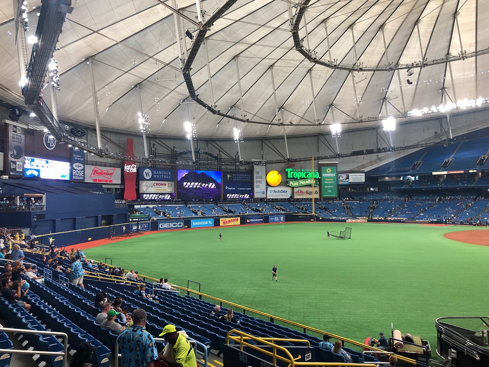Outfield View from Left Field at Tropicana Field