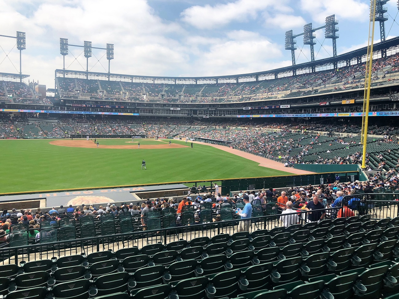 View from the Left Field Bleachers at Comerica Park (2)