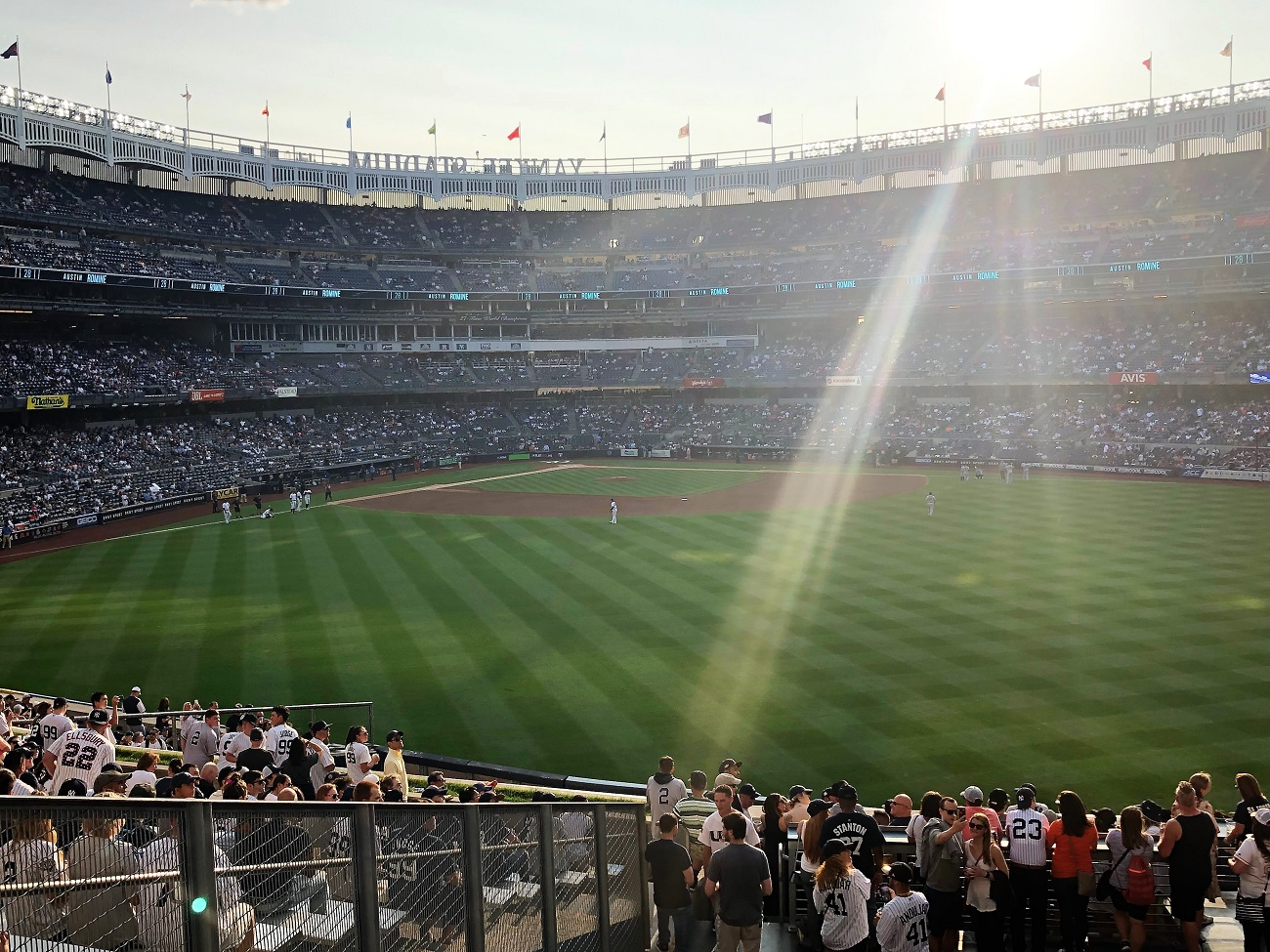 Right FIeld View of the Bleachers at Yankee Stadium