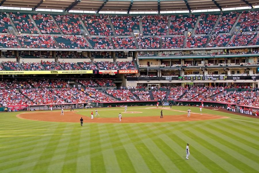 Angels Stadium View from Left Field Bleachers