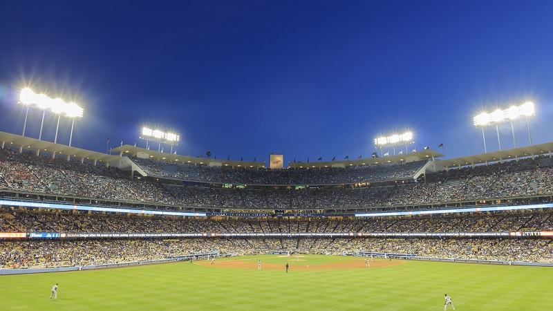 Dodger Stadium and L.A. Towndown