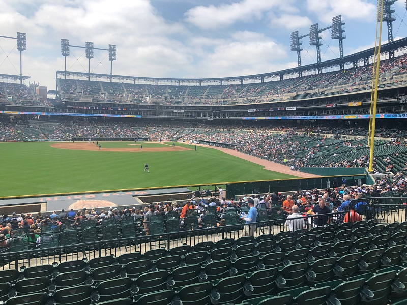 View from the Left Field Bleachers at Comerica Park
