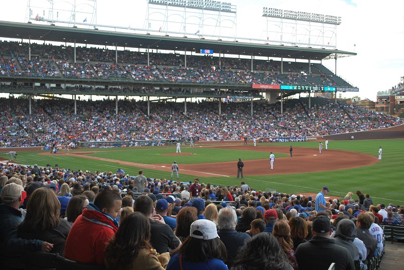 Wrigley Field Looking from the Crowd