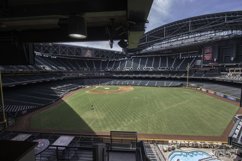 Chase Field with Swimming Pool in the Outfield