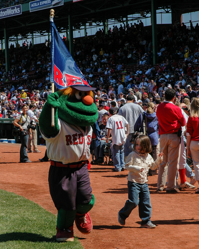 Red Sox Mascot with Friends